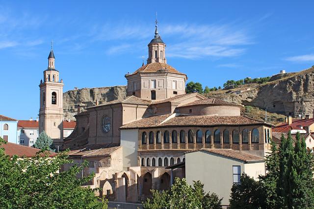 Colegiata del Santo Sepulcro from hotel bedroom, Calatayud, Spain