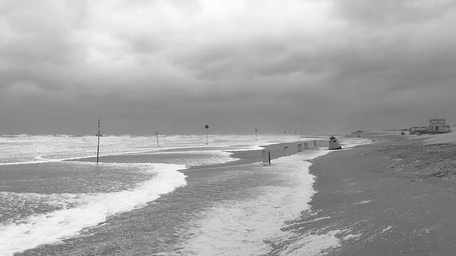 Storm Francis hitting the Dutch coast