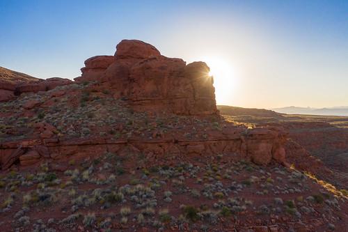 mavic2pro dronephotography aerialphotography washingtoncity dinocliffs utahisawesome utah goldenhour sunrise