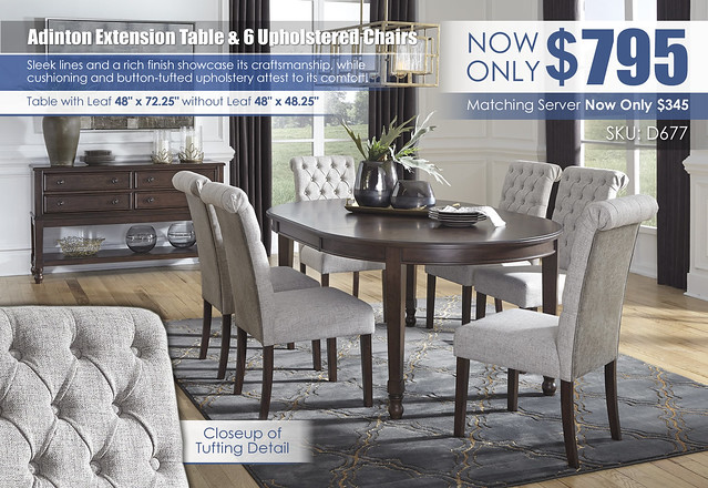 Adinton Dining Table & 6 Upholstered Chairs_D677-35-02(4)-60