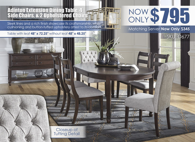 Adinton Dining Table 4 Side Chairs & 2 Upholstered Chairs_D677-35-01(4)-02(2)-60