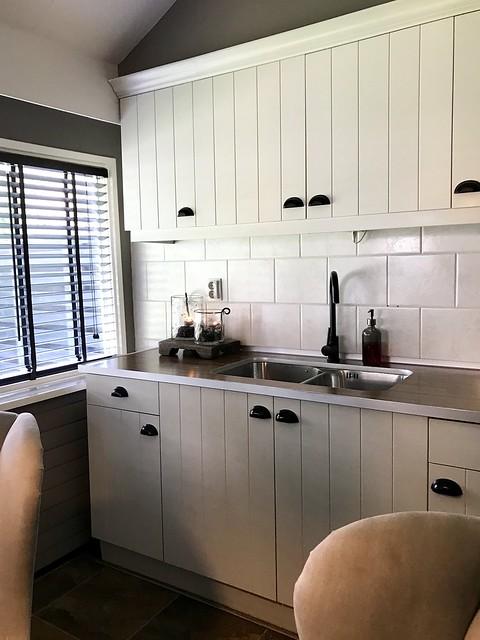 Witte landelijke keuken decoratie aanrecht landelijk sober