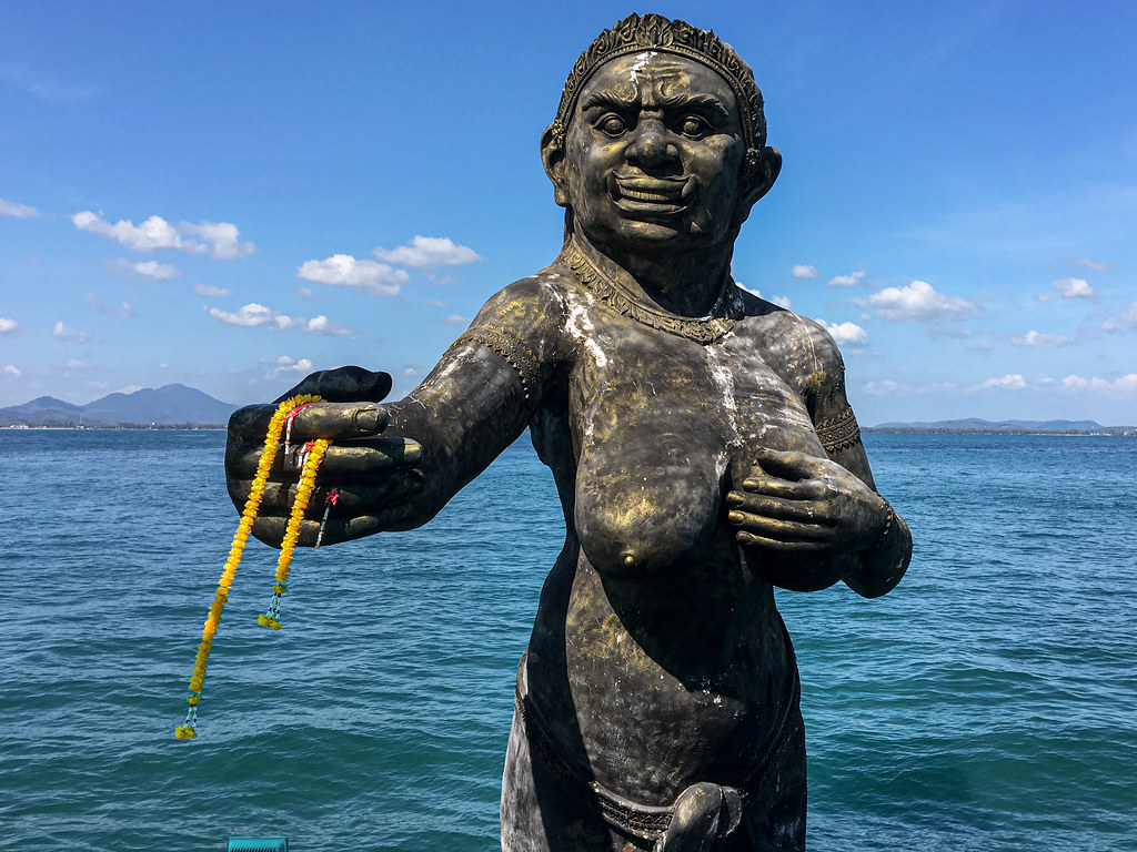 Statue of the Phra Aphai Mani ogress at Na Dan Pier