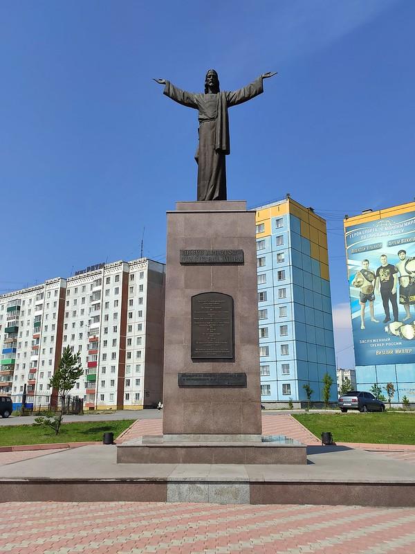 Прокопьевск - Статуя Христа и десять заповедей