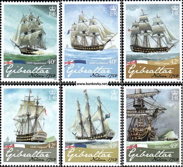 Známky Gibraltar 2008 Horatio Nelson neraz. séria MNH
