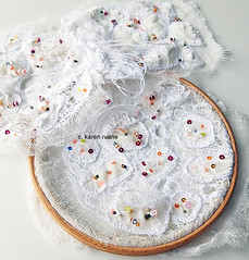 embellishing lace like cloth