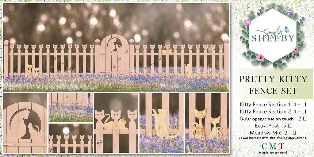 Pretty Kitty Fence Set