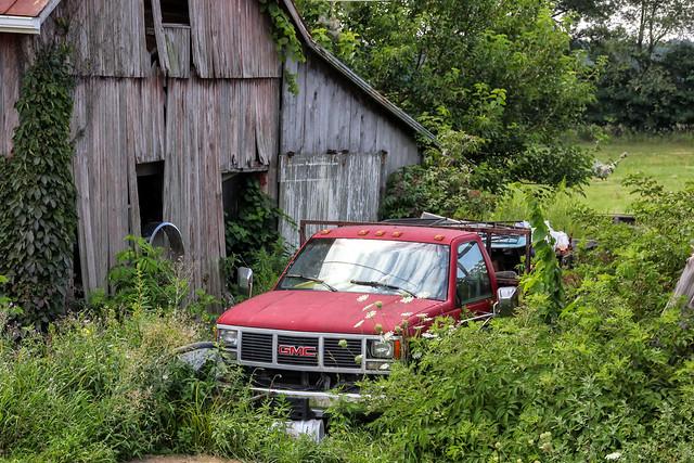 Stranded GMC Pickup Truck