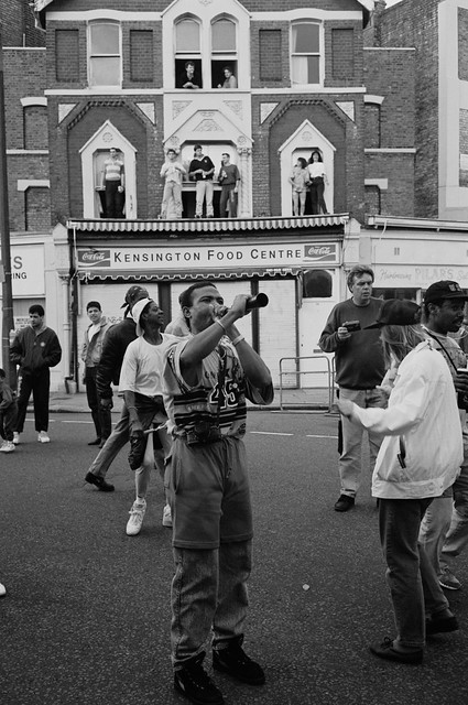 Notting Hill Carnival, 1992. Peter Marshall 92-8ac-55_2400