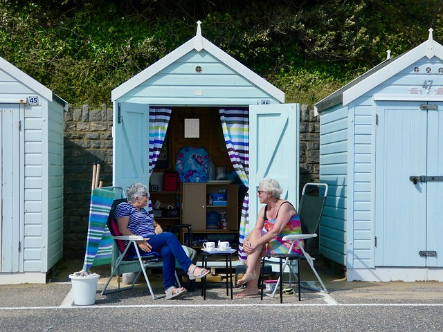 A traditional beach hut
