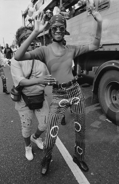 Notting Hill Carnival, 1993. Peter Marshall 93-8bf-43_2400