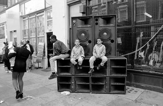 Notting Hill Carnival, 1993. Peter Marshall 93-8bg-12_2400