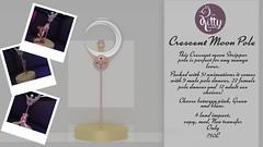 Crescent moon pole @Sanarea Opening today!