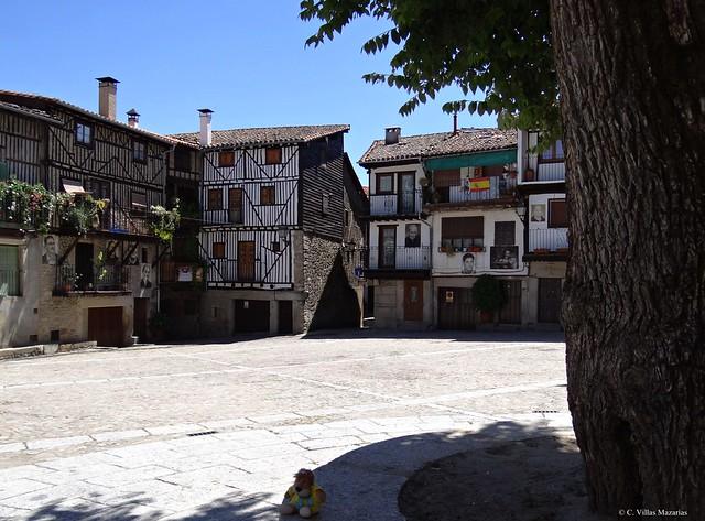 Mogarraz, Salamanca, España. La plaza.