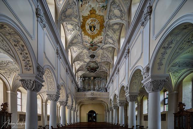 St.Michael Zell am Main Blick zur Orgel
