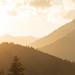Golden light and mountains in Upper Carinthia, Austria