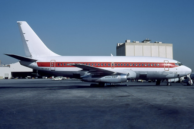 N7383F - Boeing 737-222 - EG&G (Special Projects) - KLAX - Aug 1985