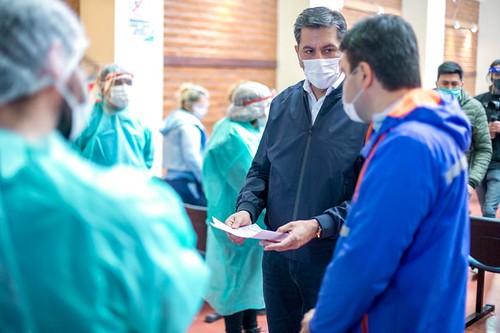 """2020-08-26 : DESARROLLO HUMANO:Aballay visitó el operativo """"Control de Brote"""""""