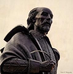 William Shakespeare Statue.. Stratford-upon-Avon. Aug 2020