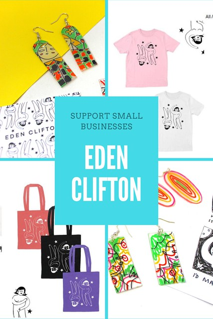 Eden Clifton - Support Small Businesses Pin
