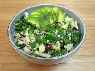 Buckwheat, Green Apple, Cranberry and Avocado Salad