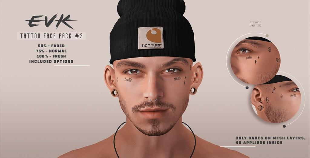 [ E V K ] Tattoo Face Pack #3 BOM