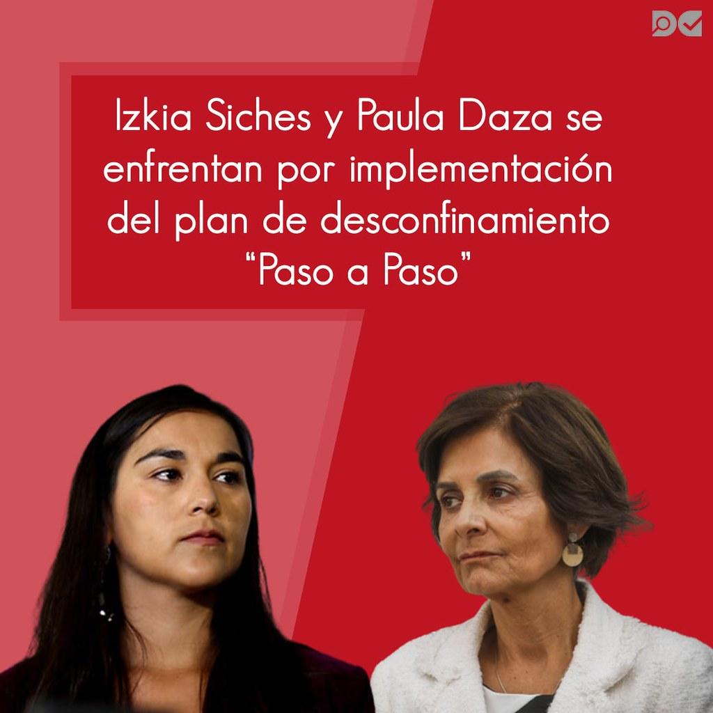 Izkia Siches y Paula Daza se enfrentan por implementación del plan de desconfinamiento