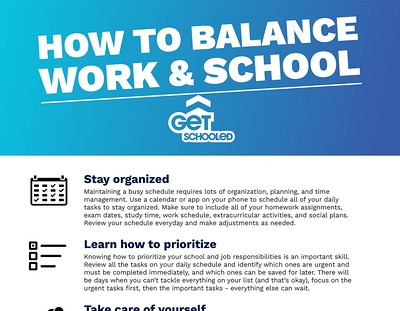 Thumbnail preview of How to Balance Work and School