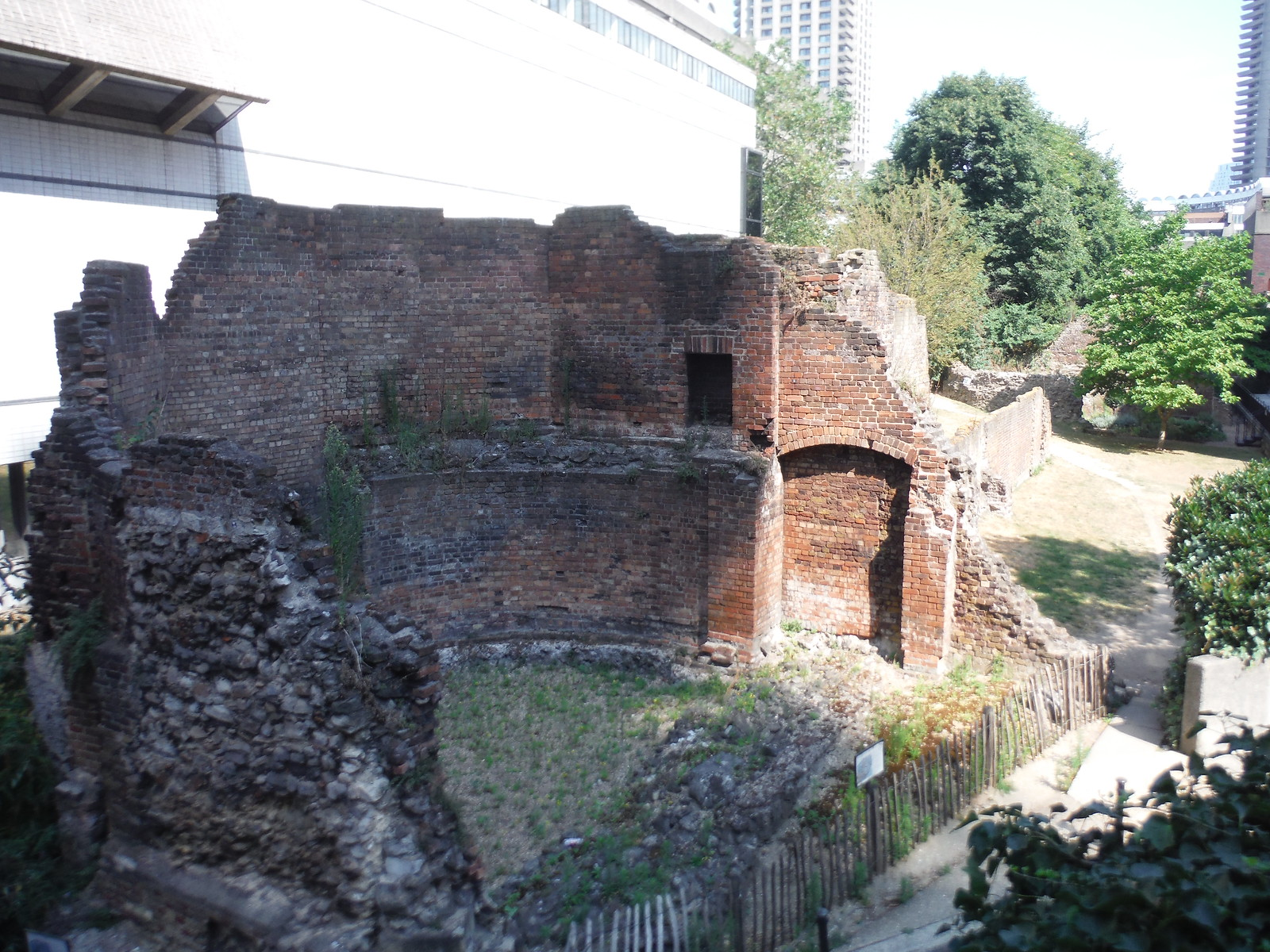 Bastion 14 of the London Wall by the Museum of London SWC Short Walk 47 - The London Wall