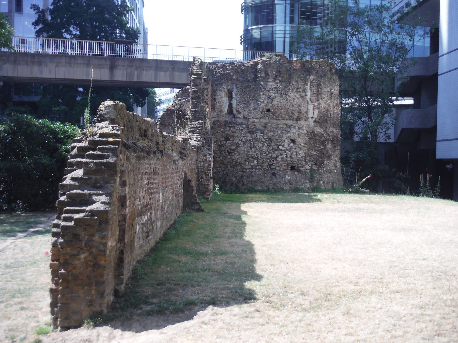 London Wall and Bastion 14, by the Museum of London SWC Short Walk 47 - The London Wall