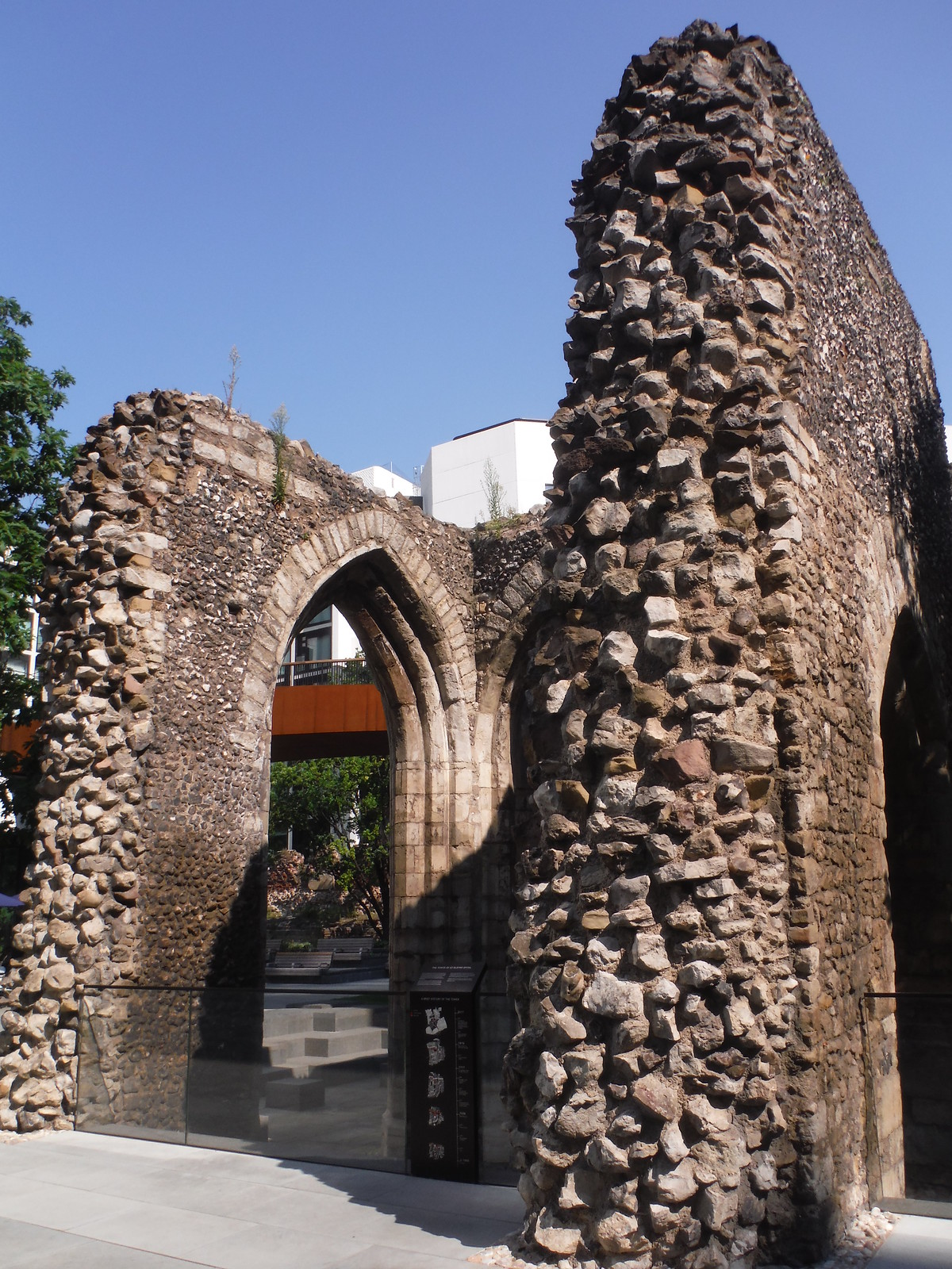 Ruined Tower of St. Elsyng Spital SWC Short Walk 47 - The London Wall