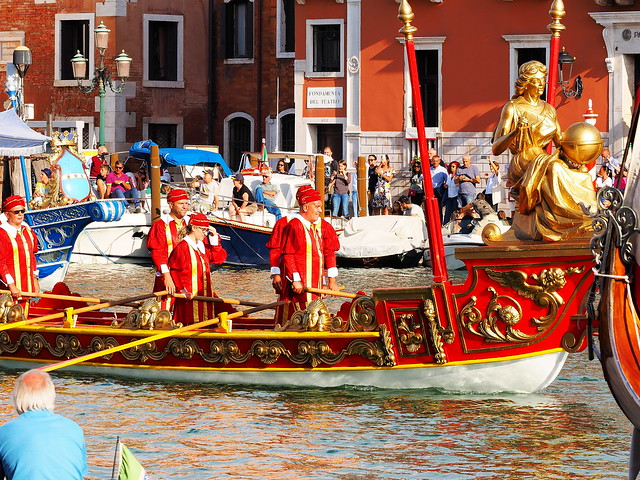 Happier times in Venice - the Regata Storica