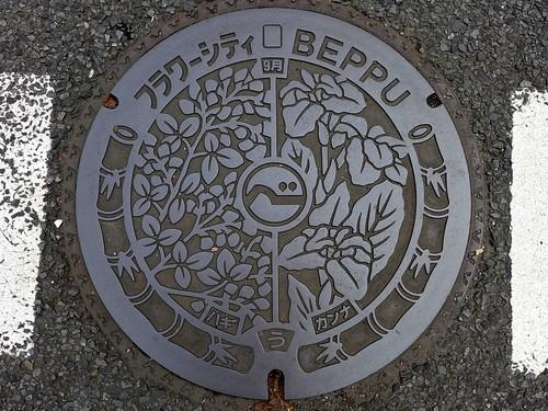 Beppu Oita, manhole cover 21 (大分県別府市のマンホール21)