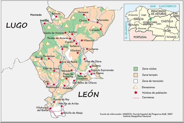 Mapa de Los Ancares leoneses