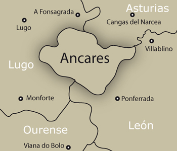 Mapa de Los Ancares (lucenses y leoneses)