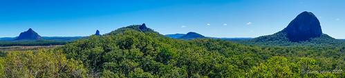 australia beerburrum glasshousemountains qld queensland sunshinecoast yulyanmantrack bushwalk bushwalking glasshousemountainsnationalpark panorama pano