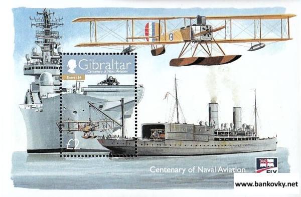 Známky Gibraltar 2009 Námorné letectvo neraz. hárček MNH