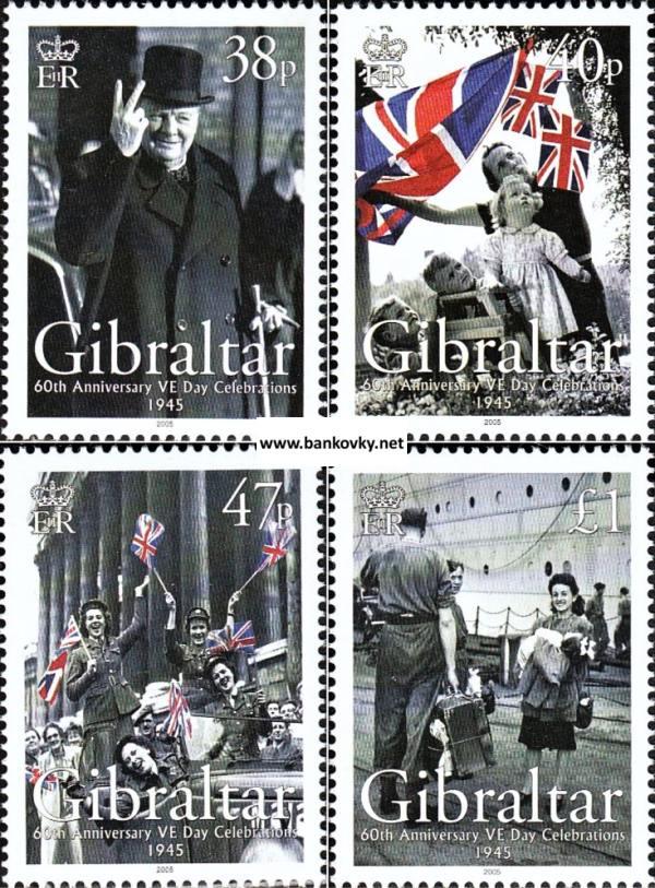 Známky Gibraltar 2006 2. svetová vojna neraz. séria MNH