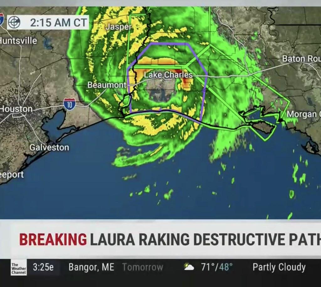 Laura Landfall Radar