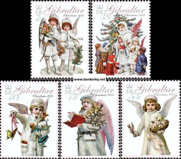 Známky Gibraltar 2005 Vianoce neraz. séria MNH