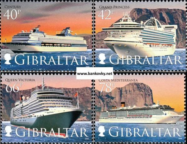 Známky Gibraltar 2008 Výletné lode neraz. séria MNH