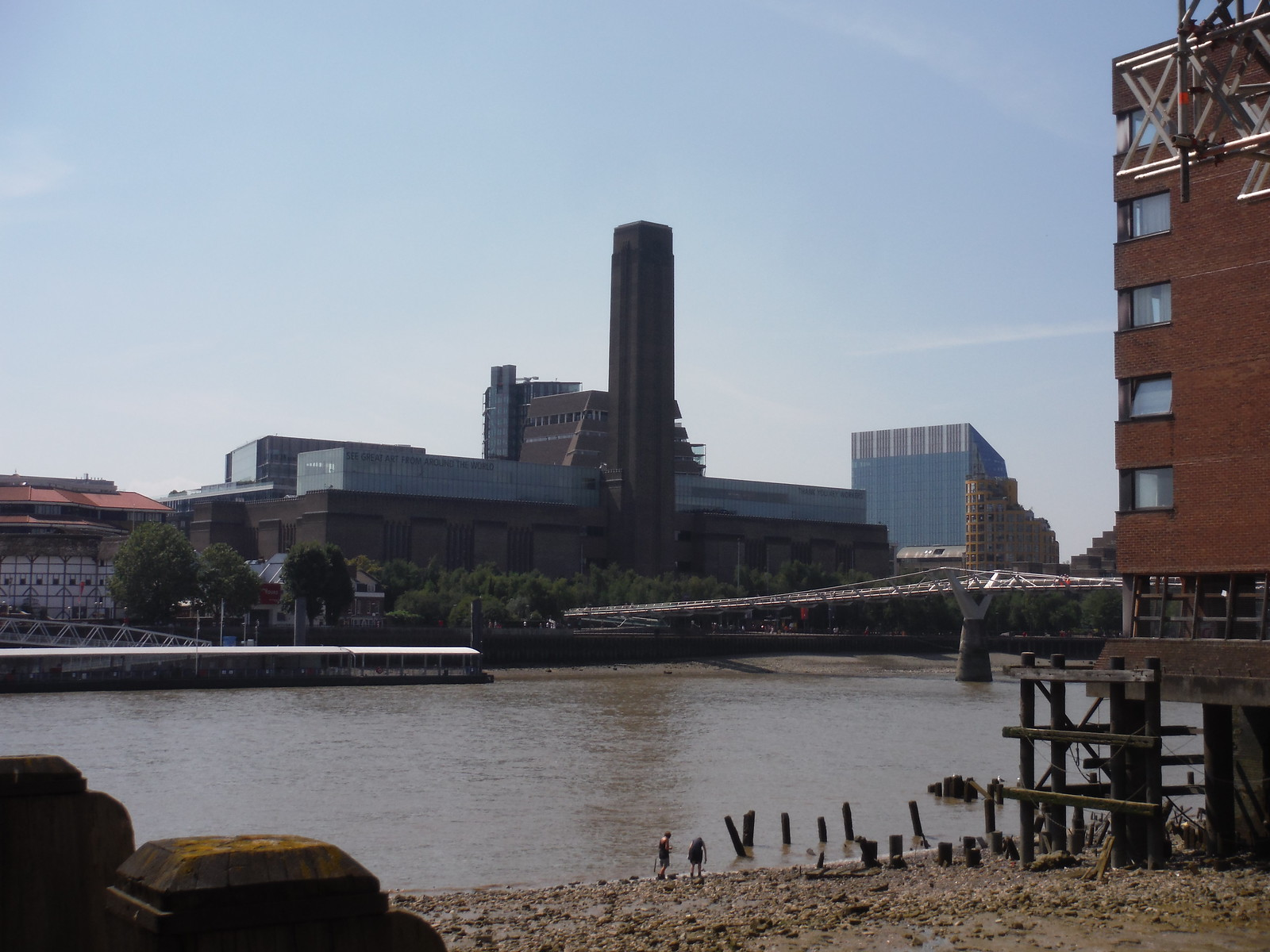 Tate Modern from Queenhithe Inlet SWC Short Walk 47 - The London Wall [Modern Waterfront Circular Walk]