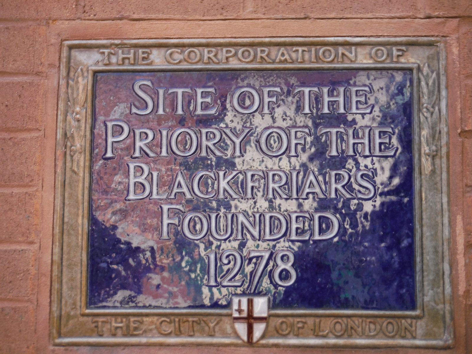 Panel at Site of Black Friars Priory SWC Short Walk 47 - The London Wall