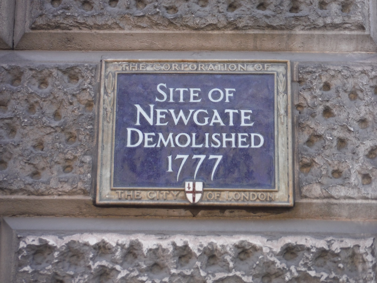 Panel at Site of Newgate, Newgate Street SWC Short Walk 47 - The London Wall