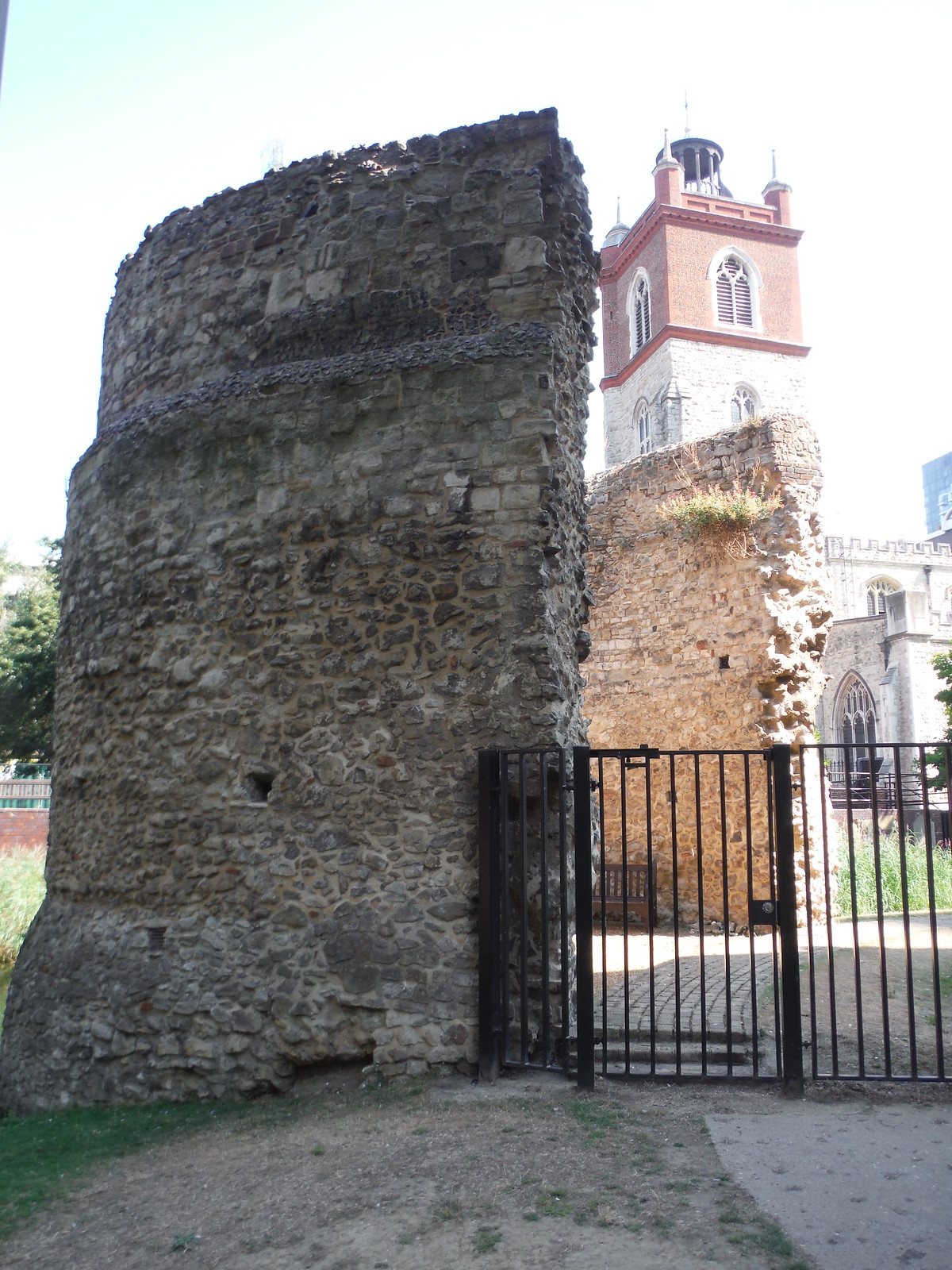 Bastion 12 of the London Wall and St. Giles Cripplegate SWC Short Walk 47 - The London Wall