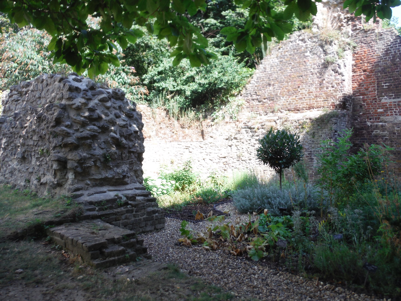 Bastion 13 of the London Wall and Barber Surgeons' Garden SWC Short Walk 47 - The London Wall