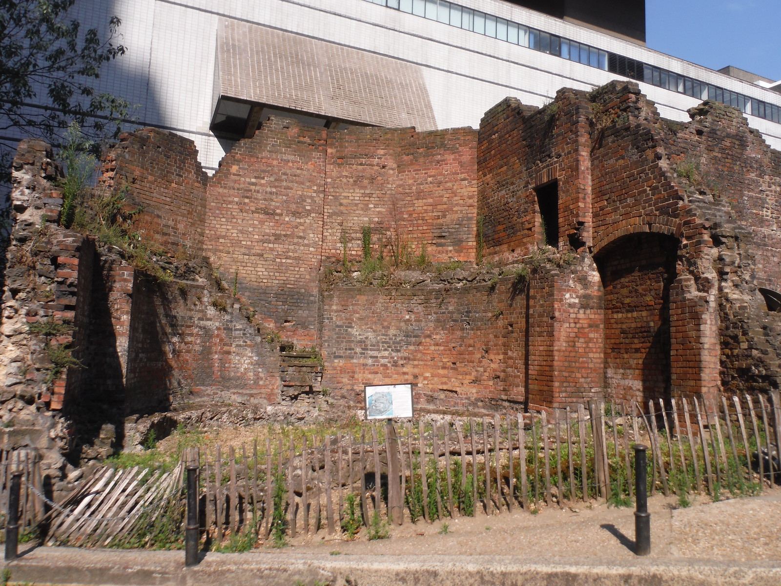 Bastion 14 of the London Wall, by the Museum of London SWC Short Walk 47 - The London Wall