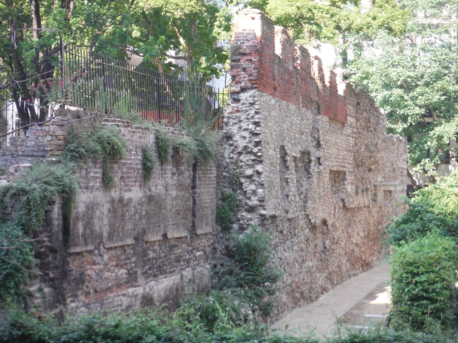 Large piece of the Wall in Salters' Garden SWC Short Walk 47 - The London Wall