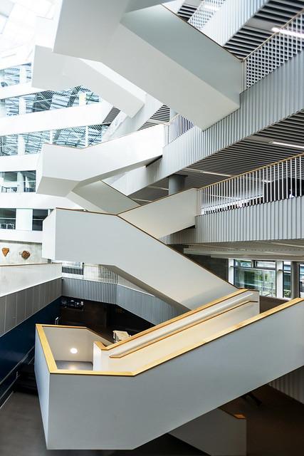 White stairs at Aarhus
