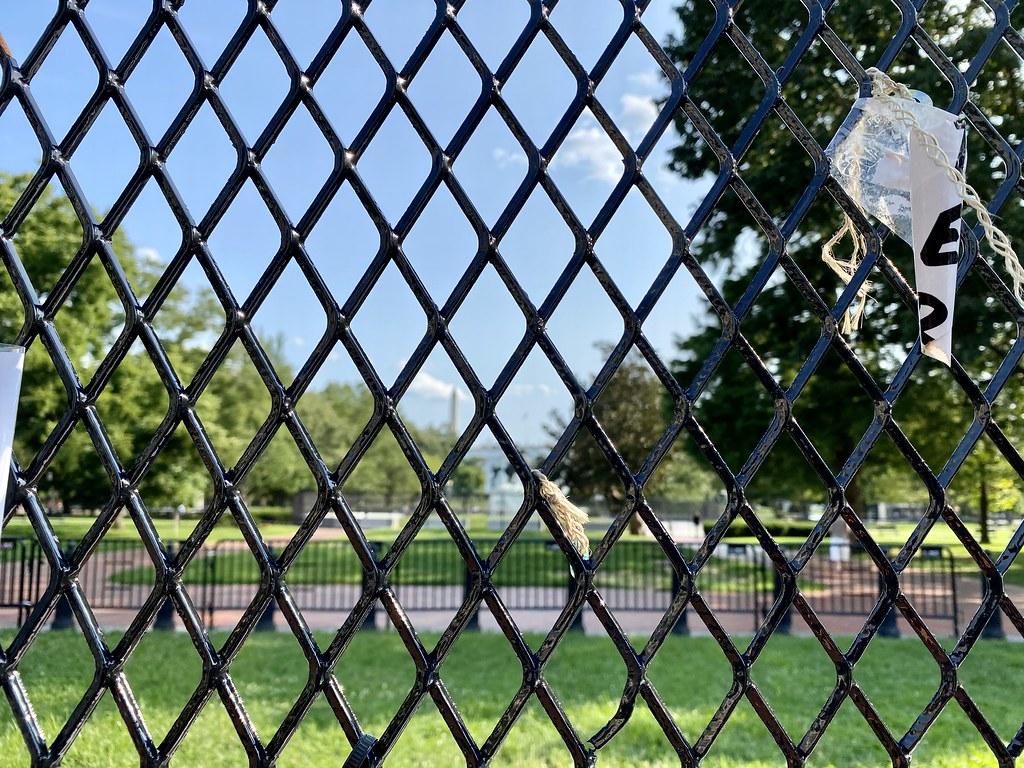 White House behind many fences